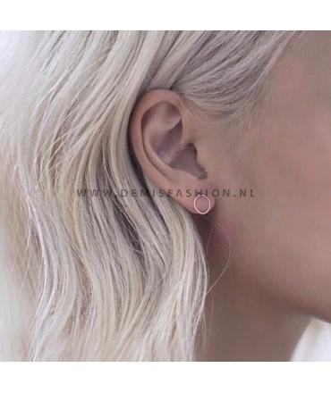 Ronde oorbellen goudkleurig