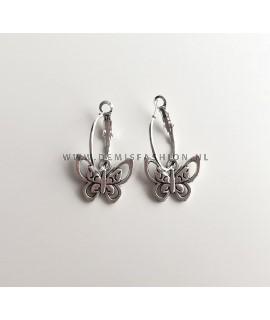 Zilveren vlinder oorbellen Amy