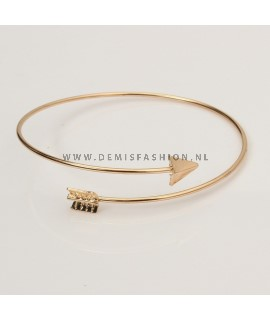 Arrow armband goudkleurig