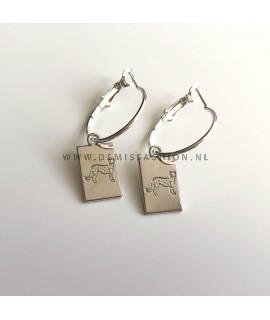 Zilveren luipaard oorbellen Melissa
