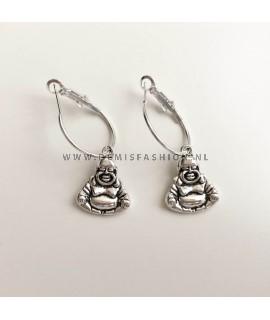 Zilveren buddha oorbellen Marjon