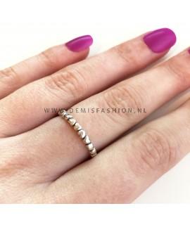 Zilveren hartjes ring Esmie