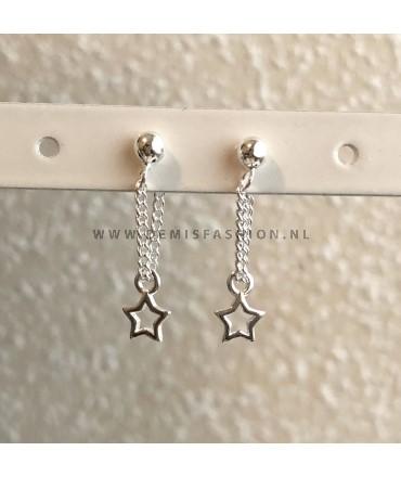 Zilveren ster oorbellen Mirre