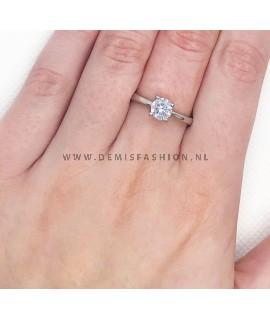 Zilveren ring Sterre