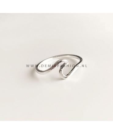 Zilveren golf ring