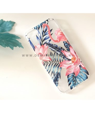 Transparant flamingo hoesje voor iPhone 7