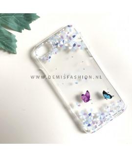 Transparant vlinder hoesje voor iPhone 7
