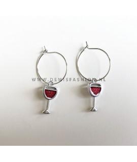 Rode wijn oorbellen