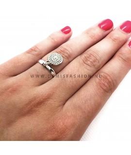Zilverkleurige ring Arnoud