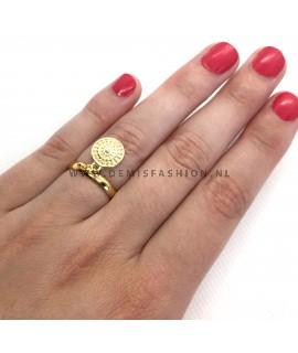 Goudkleurige ring Isa