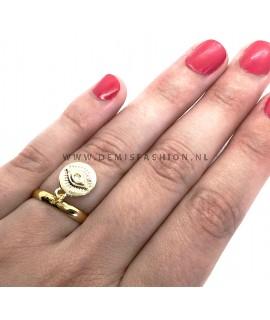 Goudkleurige ring Ilona