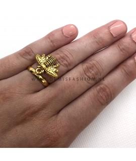 Goudkleurige bij ring