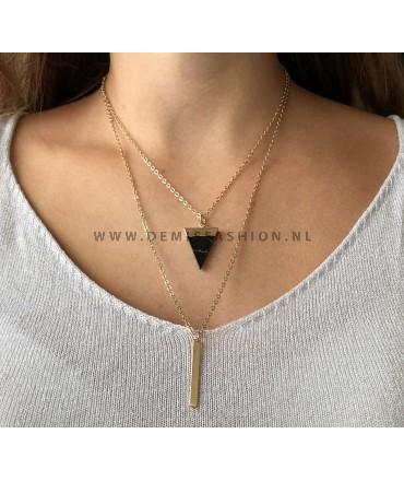 Zwarte marmeren ketting