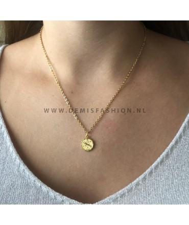 Steenbok sterrenbeeld ketting goud