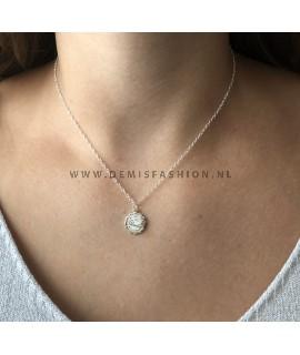 Waterman sterrenbeeld ketting zilver