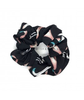 Flamingo scrunchie zwart