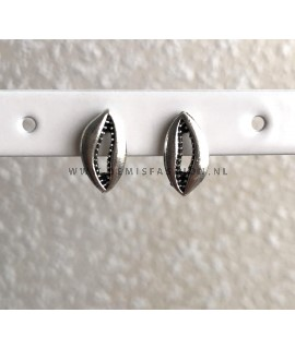 Zilverkleurige kauri shell knopjes