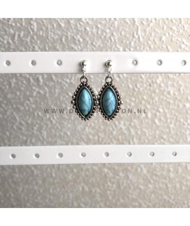 Blauwe marmeren knopjes