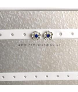 Blauwe bloem oorbellen
