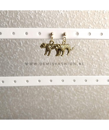 Goudkleurige luipaard knopjes