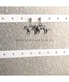 Zilverkleurige luipaard knopjes