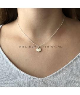 Zilveren initialen ketting I