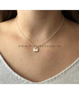 Zilveren initialen ketting Y