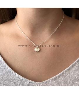 Zilveren initialen ketting Z