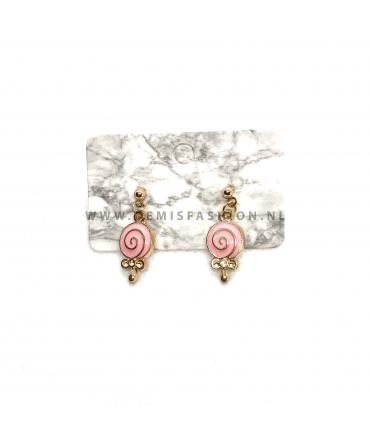 Licht roze lolly oorbellen