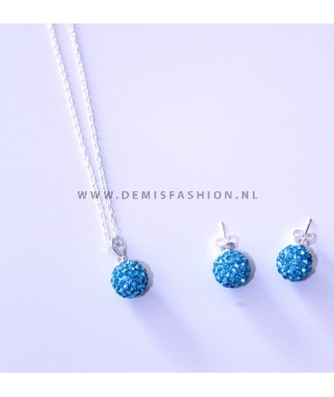 Jewelry set blue