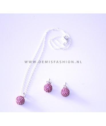 Jewelry set pink