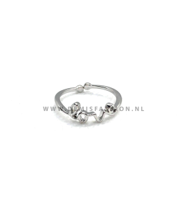 Zilverkleurige love ring