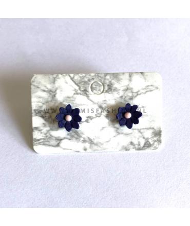 Blauwe bloem oorbellen Katie