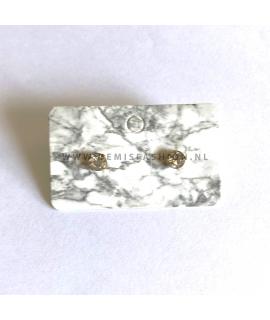 Zilveren steen knopjes Katie medium
