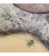 Zilverkleurige hartjes ketting Kunza