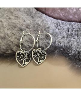 Zilveren hartjes oorbellen Kunza