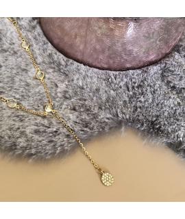 Goudkleurige steentjes ketting Kunza