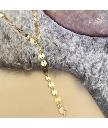 Goudkleurige muntjes ketting Kunza