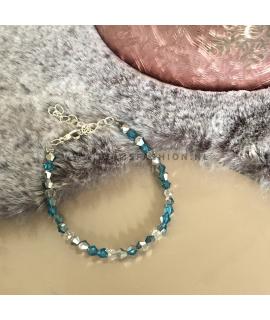 Blauw zilver armbandje Danielle