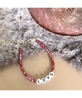 Love armband rood Danielle