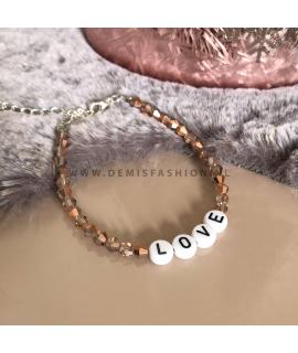 Love armband koper Danielle