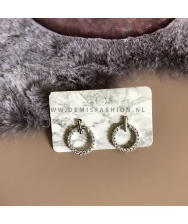 Zilverkleurige oorbellen Jonna