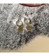 Goudkleurige ringetjes oorbellen Jordan