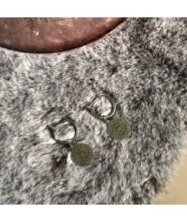 Zilverkleurige ringetjes oorbellen Jordan