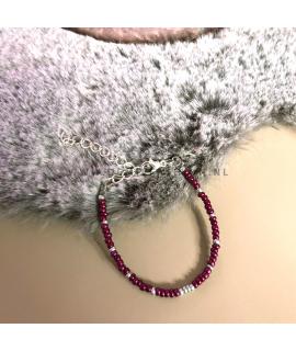 Rode armband Jill