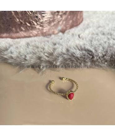 Ring Lola - rood