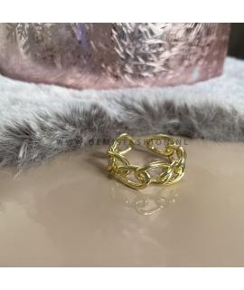 Goudkleurige chain ring Sem