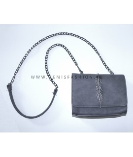 Grey feather bag