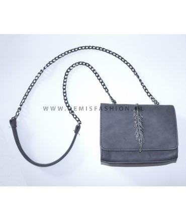 Grey feather bag