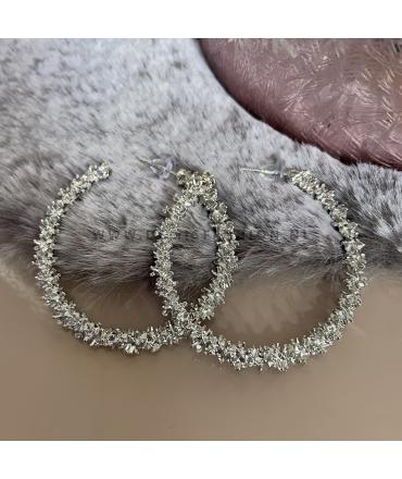 Zilverkleurige oorringen Sem